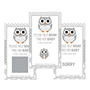 Set of 12 Scratch Off Game Cards for Baby Shower Games with Gray Owl SC184