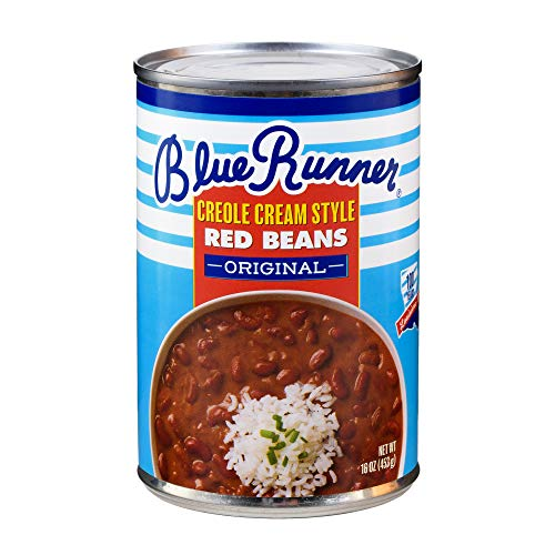 Cajun Small Red Beans - Blue Runner Creole Cream Style Red Beans, 16-Ounce (Pack of 12)