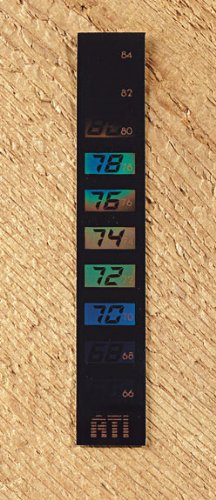 American Thermal Liquid Crystal Aquarium Thermometer Vertical Small