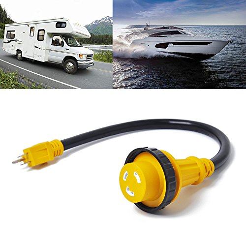 shantan 15 30 15a male to 30a female adapter 60m new marine amp 125v boat rv electrical converter cord cable by shantan