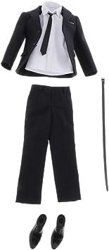 Amazon.es: Sharplace 1/6 Conjunto de Traje de Vestir Negro y ...