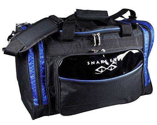 いくつかのコンサートサッカーLEZAX(レザックス) SNAKE EYES ボストンバッグ  SEBB-6257 ブラック×ブルー