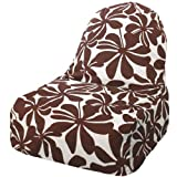 Majestic Home Goods Kick-It Chair, Plantation, Chocolate
