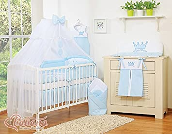 11 Pcs Brand New Little Prince Blau Baby Bettwäsche Set Betthimmel
