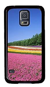 Samsung Galaxy S5 Nature flowers field PC Custom Samsung Galaxy S5 Case Cover Black