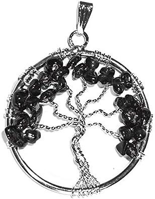 Vibrations Cristallines Colgante árbol de la Vida en turmalina.