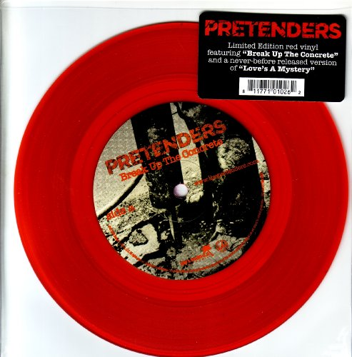 - Break up the Concrete Ultra Limited Edition Red Vinyl 7 Inch (W/ Previously Unreleased Version of Love's a Mystery )