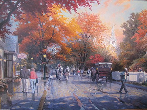 Thomas Kinkade Autumn On Mackinac Island E/P Limited Canvas Signed and Numbered (Kinkade Autumn Thomas)