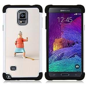 For Samsung Galaxy Note 4 SM-N910 N910 - ACTION GRANDMA FUNNY STOP KUNG FU Dual Layer caso de Shell HUELGA Impacto pata de cabra con im??genes gr??ficas Steam - Funny Shop -
