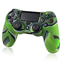 Everydaysource compatible with Sony PlayStation 4 (PS4) Controller Camouflage Navy Green New Protective Rubber Silicone Skin Case Cover