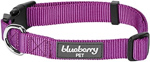 Martingale Collars Blueberry Pet Essentials 22 Colors Classic Solid Color Collection Regular Collars Personalized Collars or Seatbelts