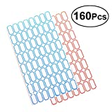 YeahiBaby Adhesive Labels Paper Price Name Handwritten for Office Shop Store 160 PCS (Blue and Red)