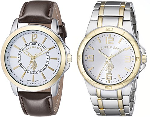 U.S. Polo Assn. Classic Men's USC2254 Set of Two Two-Tone - Big Polo Watch