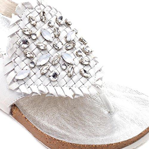CAFèNOIR Hc192 - Sandalias de cuña Mujer E15.271 OFF WHITE