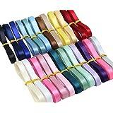 XUKE 1/4-Inch by 1M Satin Thin Ribbons Roll Wedding Party Craft DIY Decoration