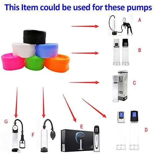Penis Pump Sleeve Cover Rubber Seal Donut for Most Dildo Erection Enlarger Device Penis Vacuum Pump Cylinder Accessory