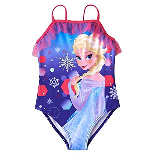 Disney Frozen Little Girls' Elsa One Piece Swimsuit - Purple