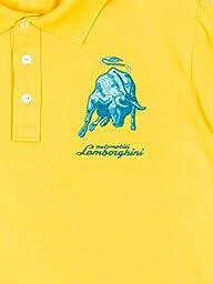 Automobili Lamborghini Mens Bull Lxlll Polo Shirt Xs Lemon