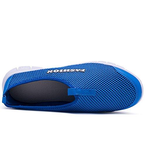 001 Sneakers Sports Running 33 para 45 Running Neutral Transpirables Casual Deporte Zapatos Blue Zapatillas AKXY KJJDE HXqw17