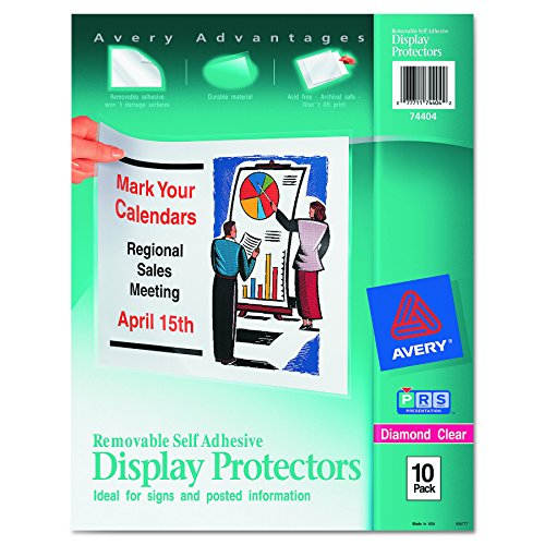 Avery Top-Load Display Sheet Protectors, Letter Size, 10 per Pack (74404)