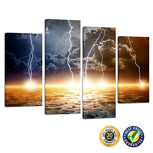 Creative Art- Natural Landscape Paintings Wall Art Lightning