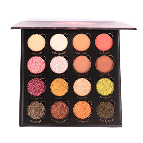 Allwon Magnetic Eyeshadow Palette with 16 Colors Shimmer Matte Eyeshadows Highly Pigmented Warm Natural Smokey Eye Shadows