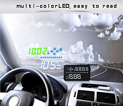 A3 YICOTA 3.5  Universal HUD GPS Head Up Display Automatic Multi-color LED Screen