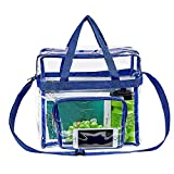 "Magicbags Clear Tote Bag Stadium Approved,Adjustable Shoulder Strap and Zippered Top,Stadium Security Travel & Gym Clear Bag, Perfect for Work, School, Sports Games and Concerts-12"" x12"" x6""(Blue): more info"