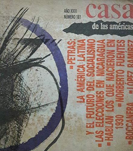 Revista casa de las americas habana cuba julio-agosto de 1990 numero181la america latina y el futuro del socialismo