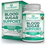 Premium Blood Sugar Support Supplement by PurePremium | Cinnamon, Mulberry, Vitamin C | Glucose Metabolism & Healthy Blood Sugar Levels | Regulate Cholesterol & Promote Cardiovascular Health | 60 Caps For Sale