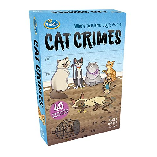 51xWCg13GdL - ThinkFun Cat Crimes Logic Game and Brainteaser for Boys and Girls Age 8 and Up - A Smart Game with a Fun Theme and Hilarious Artwork