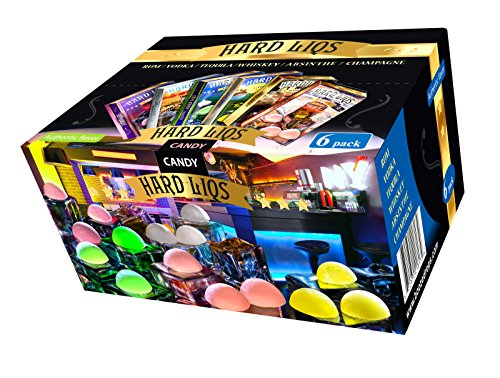 Hard Liqs – Alcohol Hard Candy – 6 Pack, 5 Oz(absinthe, champagne, rum, tequila, vodka, whiskey)