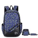 Backpack - Bageek School Bag Travel Backpack Men Daypack College Bookbag Rucksack with Crossbody Bag Pencil Case 3PCS Set