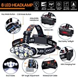 Headlamp, OUTERDO 13000 Lumens 8 LED Headlamp