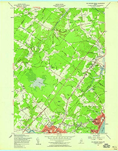 YellowMaps Old Orchard Beach ME topo map, 1:24000 Scale, 7.5 X 7.5 Minute, Historical, 1956, Updated 1958, 27.5 x 21.5 in - Paper