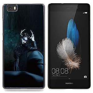Stuss Case / Funda Carcasa protectora - Moda Negro Bruja noche de Halloween - Huawei Ascend P8 Lite (Not for Normal P8)