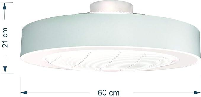 ALEDA Lampara de techo led 60W con ventilador: Amazon.es: Iluminación