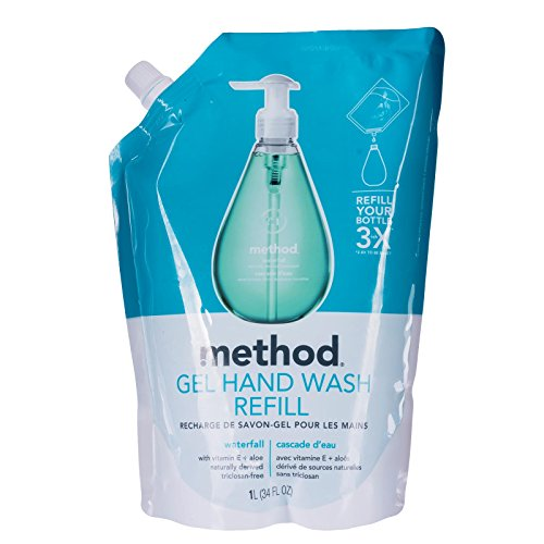 Method Gel Hand Wash Refill Pouch, Waterfall, 34 Ounce