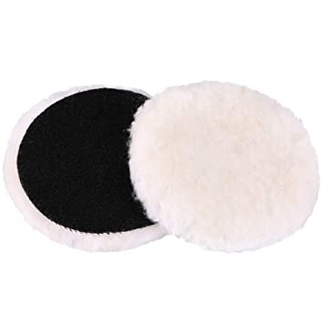 Used with Rotary and Random Orbit Sander//Polisher LotFancy 6-Inch Wool Buffing Pads Car Auto Hook and Loop Polishing Pads Pack of 2