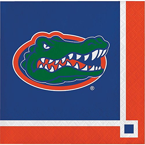 40 University of Florida Gators 2-ply Premium Beverage Napkins College Football Party Tailgating