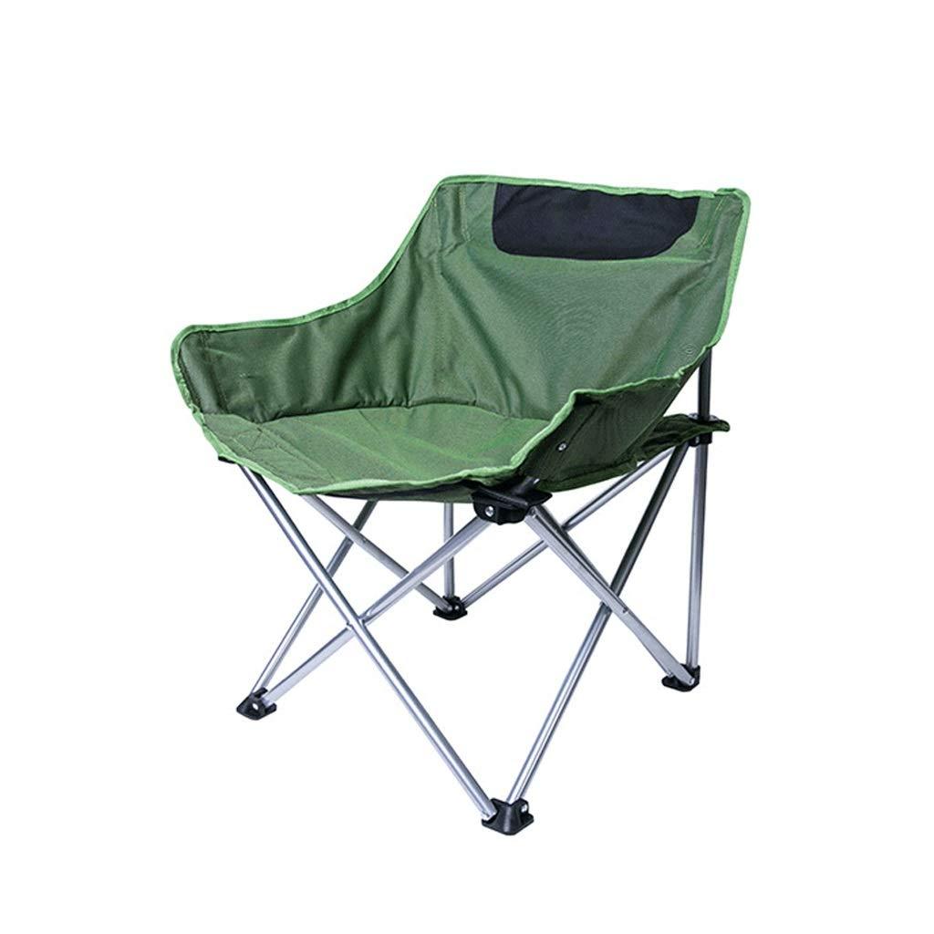 HYXI-Klappstuhl Camping-Stuhl im Freien, Wanderer-Strand-Fischen-kampierender Skizzen-Stuhl, maximale Last 75KG