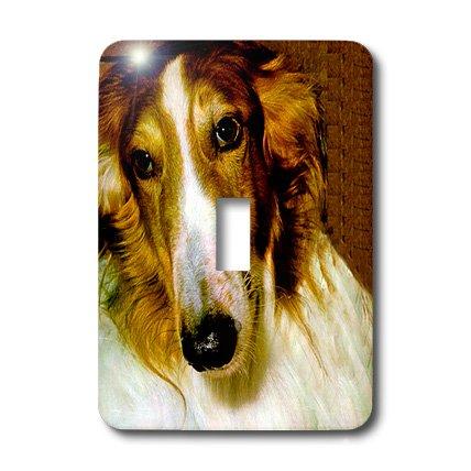 Borzoi Clock - lsp_522_1 Dogs Borzoi - Borzoi - Light Switch Covers - single toggle switch