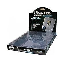 Ultra Pro Láminas de 9 bolsillos para almacenar tarjetas de intercambiar - Serie Platinum (100 lámminas/páginas)