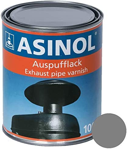 Asinol Auspufflack 800 Silber 1000 Ml Kunstharzlack Farbe Lack 1l Liter Dose Auto