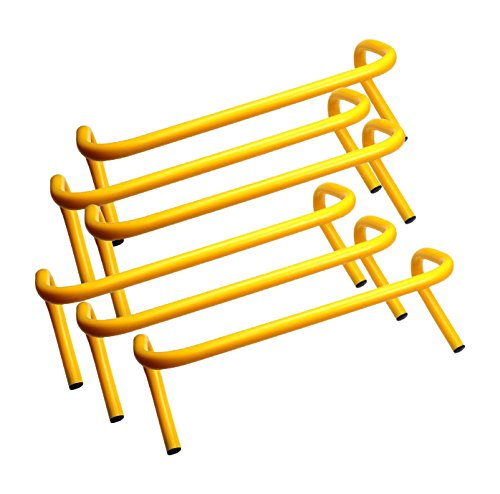 Bluedot Trading Speed Agility Soccer/Football/Basketball Training Hurdle Track (6 Set), Yellow, 9
