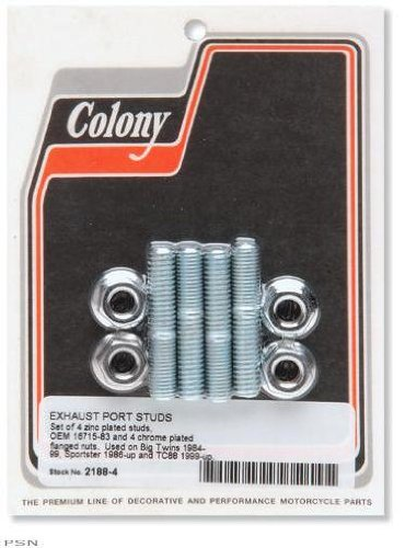 Colony Exhaust Port Studs and Nuts 2188-4 ()