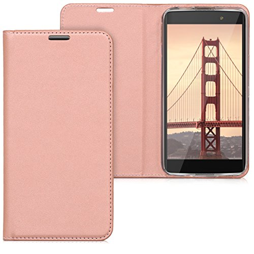 kwmobile Practical and chic FLIP COVER protective shell for Alcatel IDOL 4S in rose gold