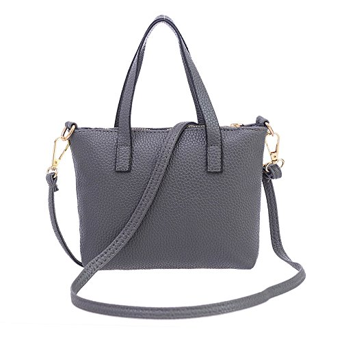 FitfulVan Clearance! Hot sale! Women Fashion Handbag Shoulder Bag Tote Ladies Purse (Gray)