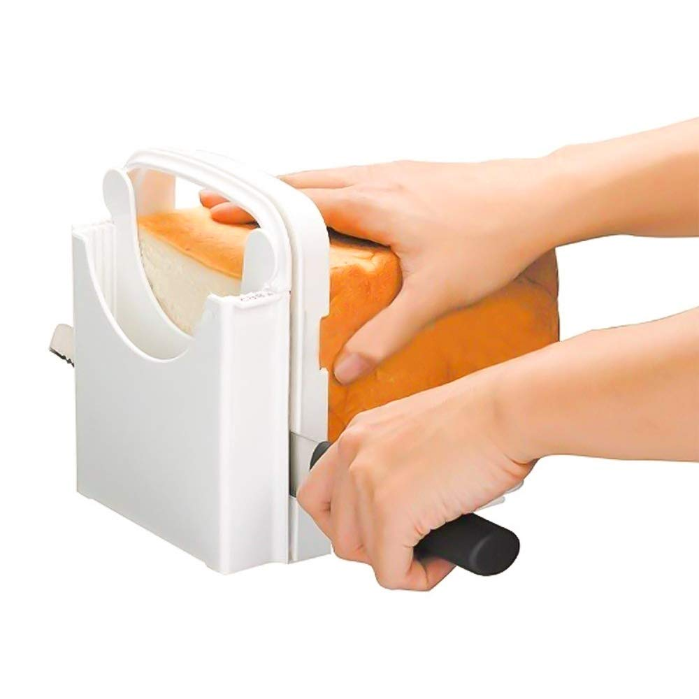 DDSKY Bread Cutting Guide Foldable Bread Silcer Toast Slicing Machine with 5 Adjustable Slice Thicknesses for Bread Toast Bagel Loaf Sandwich Also for Ham Cheese and Vegetable