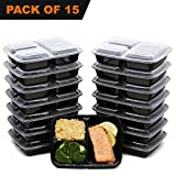 [15 Pack] FreshPREP Food Containers, Bento Box, Lunch Box or Prep Box for ...